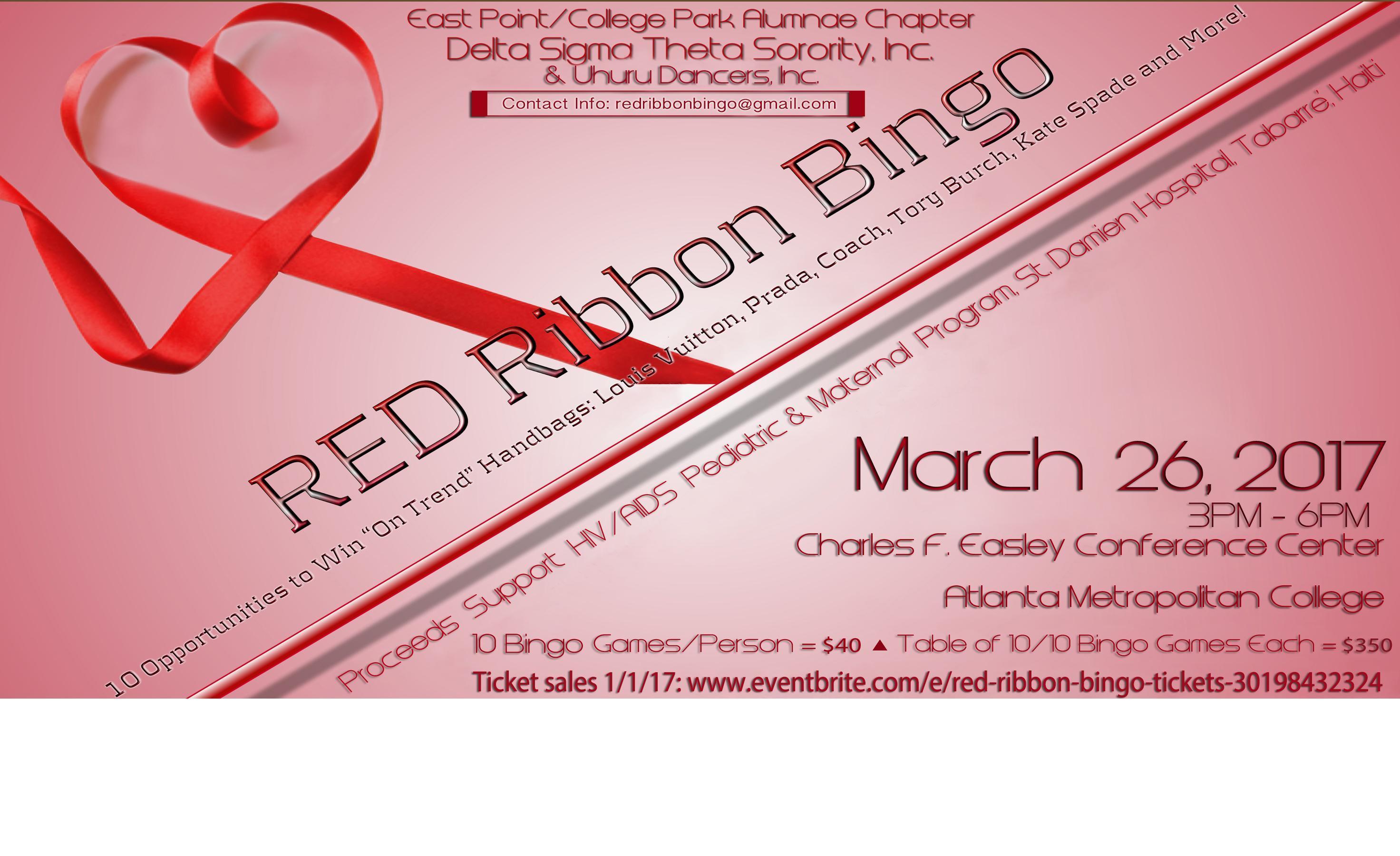 Red Ribbon Bingo
