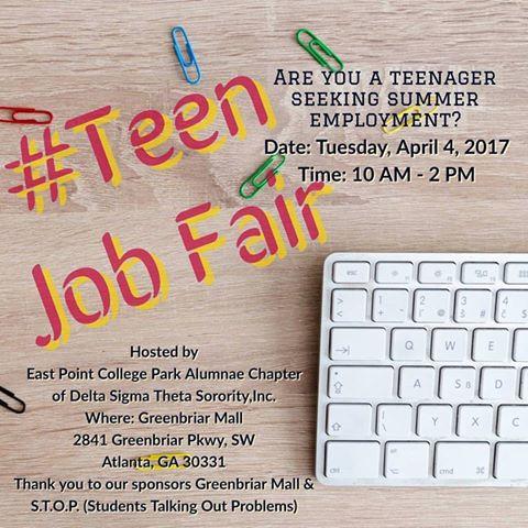 Teen Job Fair April 4, 2017