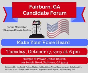 Fairburn, GA Candidate Forum